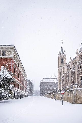 Los Jerónimos, Filomena en Madrid, España