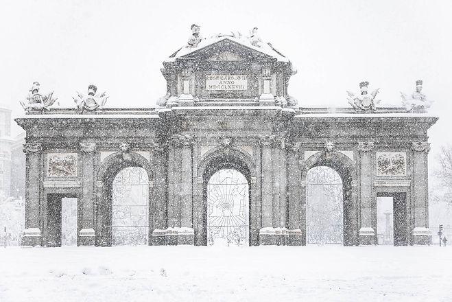 Puerta de Alcalá Filomena Madrid