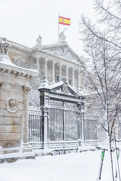 Biblioteca Nacional, Filomena en Madrid, España