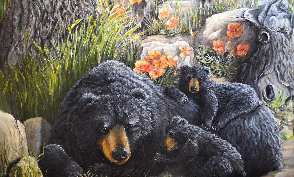 """MOMMA AND BABY BEARS""   ORIGINAL"