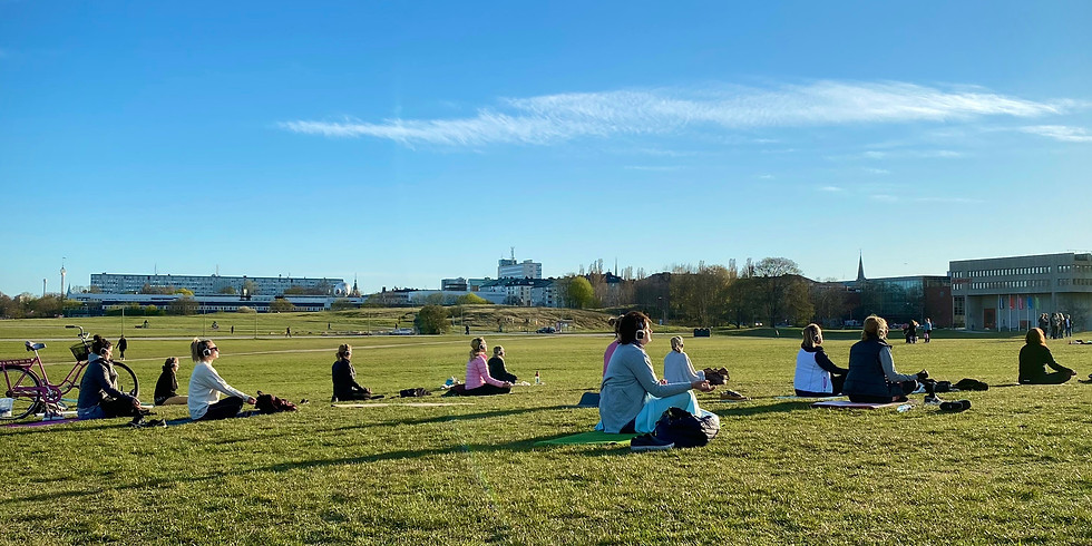 Silent Yoga in the Park
