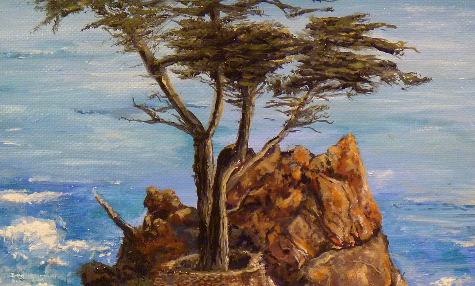 """""""THE LONE CYPRESS""""  print on canvas"""