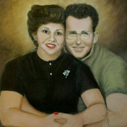 """mom and dad memorial  16""""x20""""   Oil"""