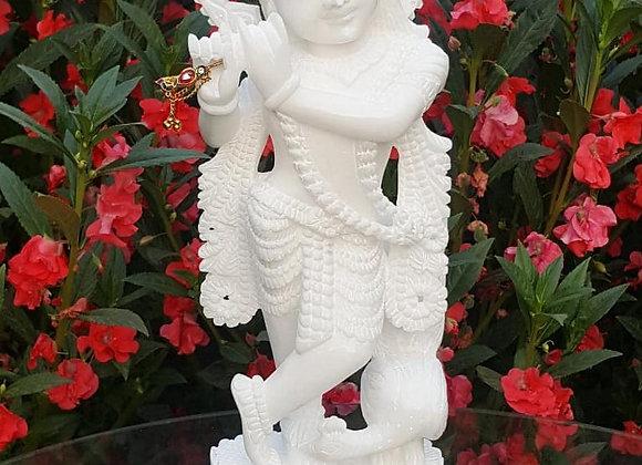 Shri Krishna Idol with agate stone tea light holder♥️