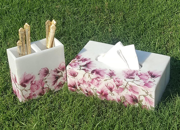 Cutlery stand and Tissue box cover