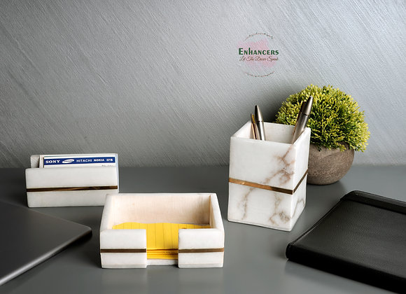Office Accessories (Visiting card holder, notepad and Pen stand)