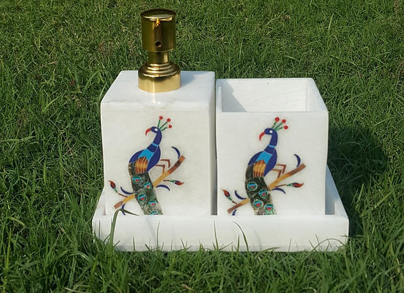 Peacock Inlay work Washroom Accessories