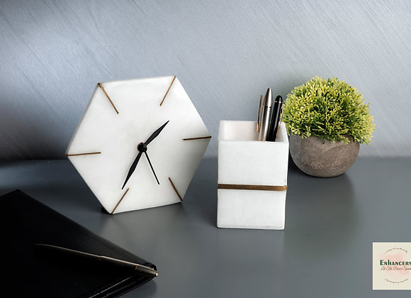 Office clock and Pen stand