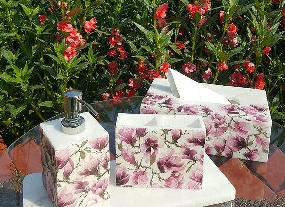 Flower Print Bath Set