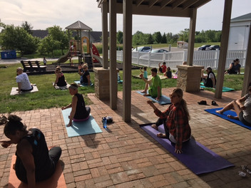 Yoga in the Park at Curley Park