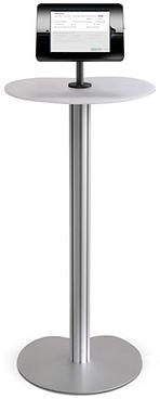 Image of Self Servic Kiosk on mounted tablet holder