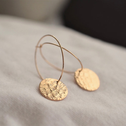 Gold lace hoops