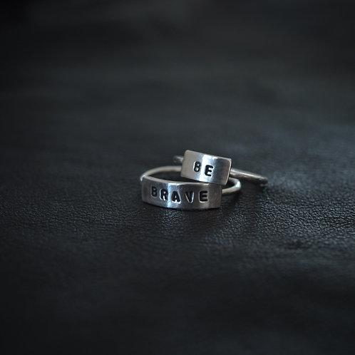 WORD RING // BE BRAVE SET