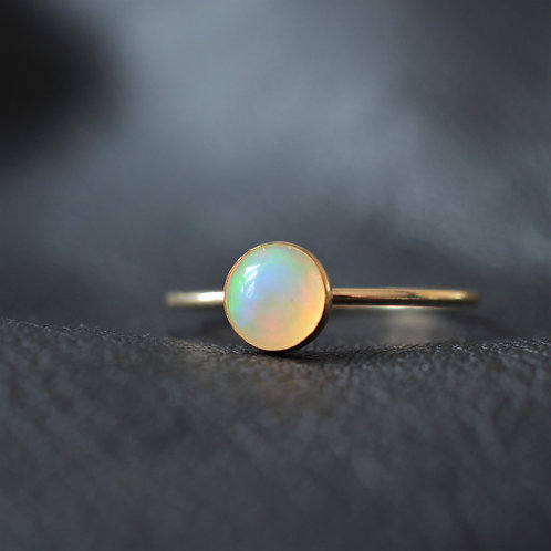 14CT GOLD FILLED OPAL RING