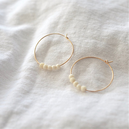 Bone Bead hoops