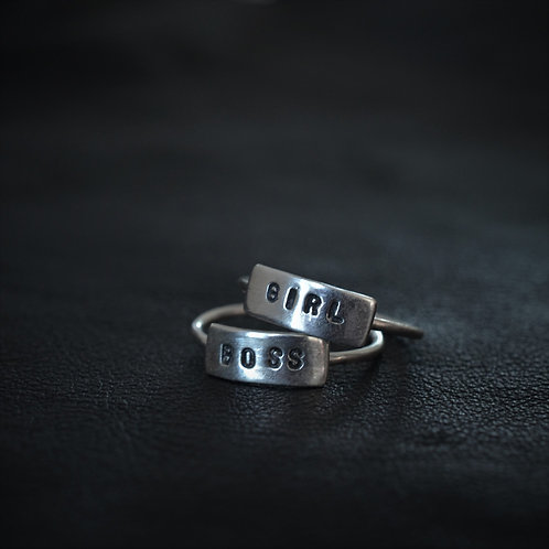 WORD RING // GIRL BOSS SET