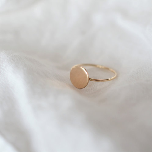 14k Gold Filled Disc Ring