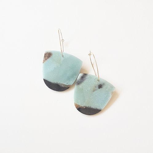 Amazonite Slice earrings