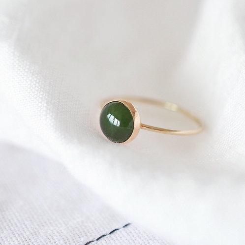 14k gold filled Greenstone Ring