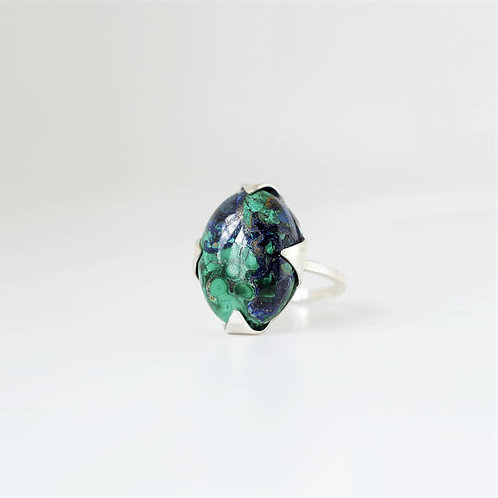 Azurite Lily ring