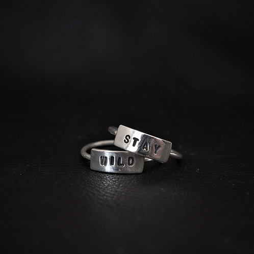 WORD RING SET // STAY WILD