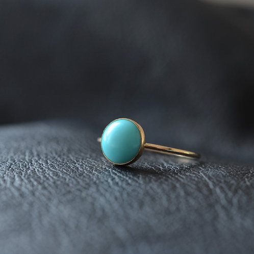14CT GOLD FILLED TURQUOISE RING