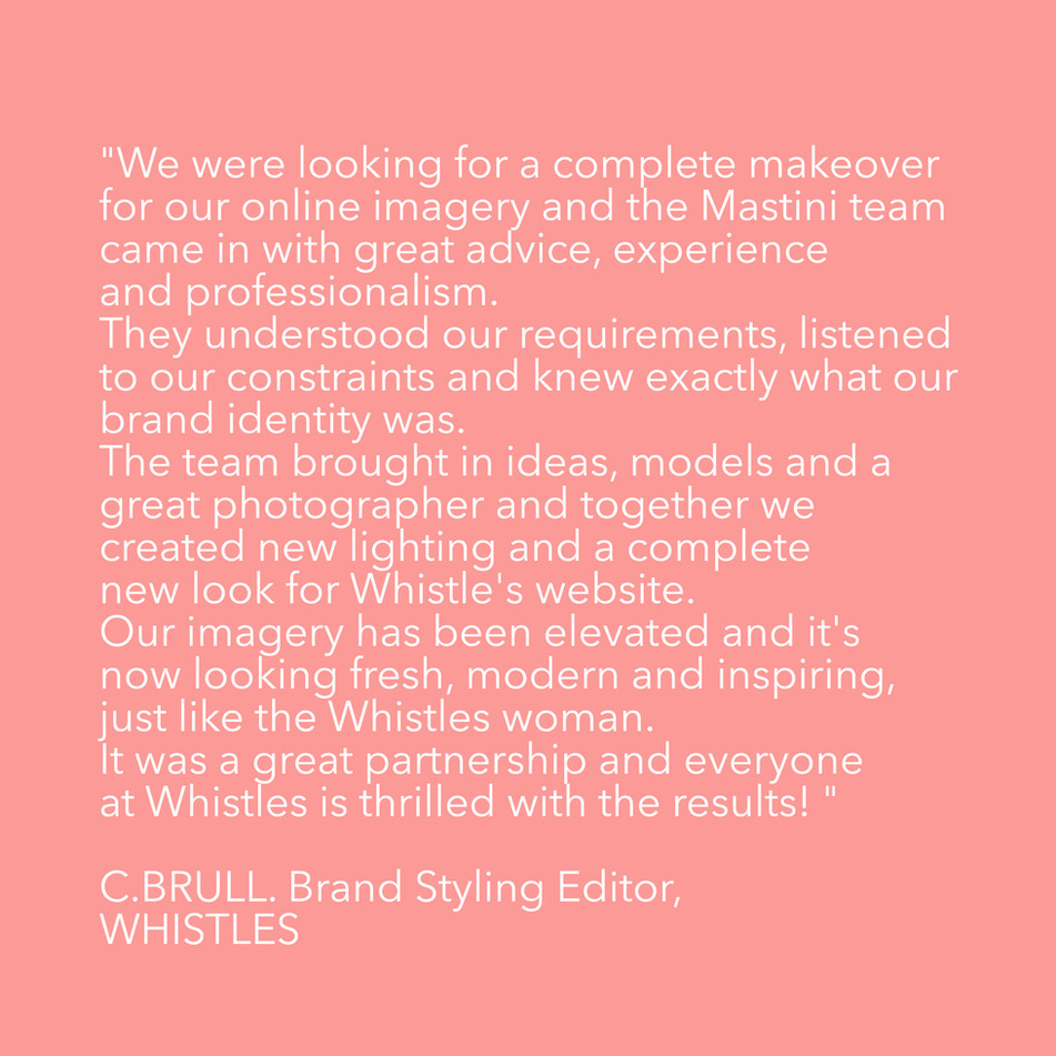 MASTINI PRODUCTIONS x WHISTLES
