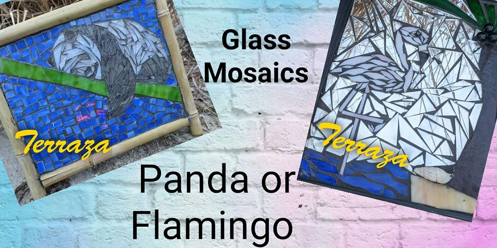 Panda or Flamingo Mosaic Workshop 320