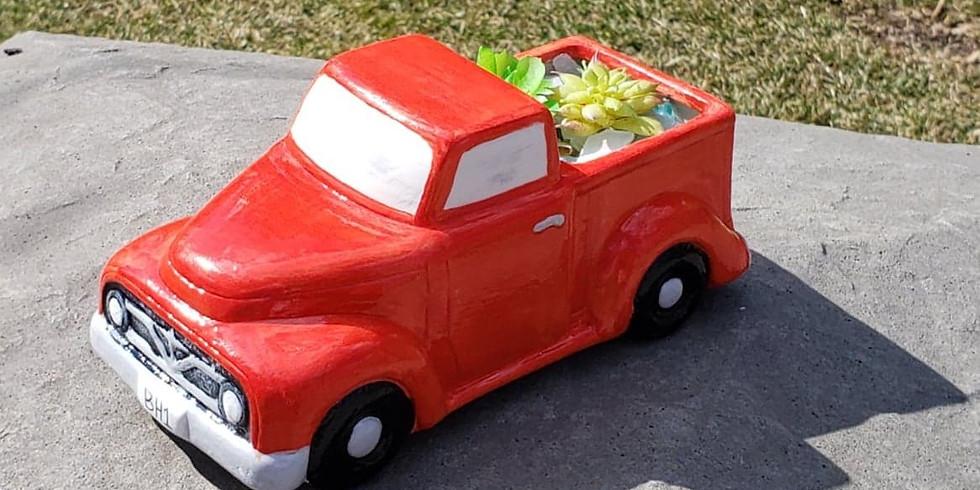 Beans Leaves - Truck Succulent Holder