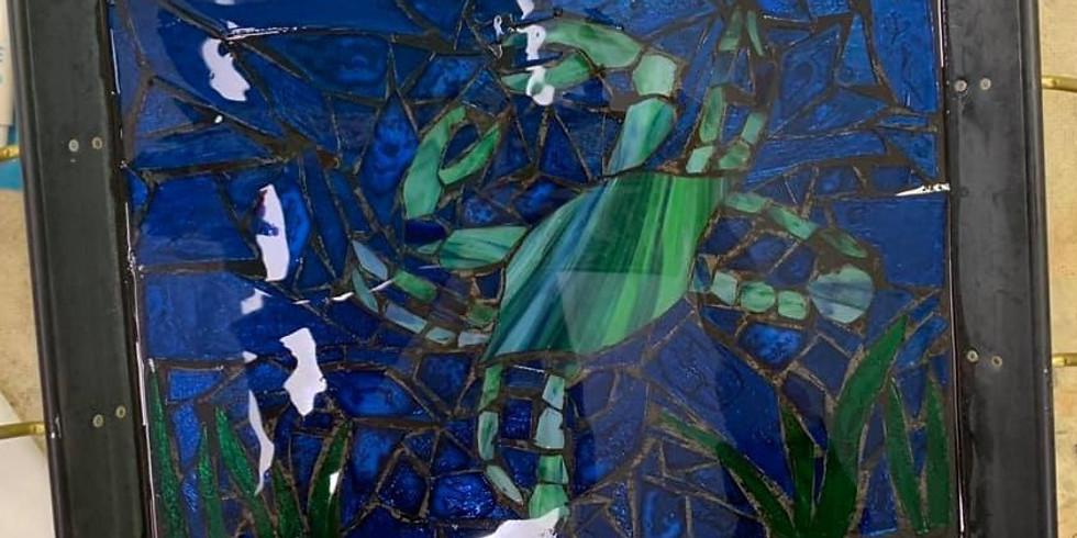 Serving Tray - Mosaic Blue Crab