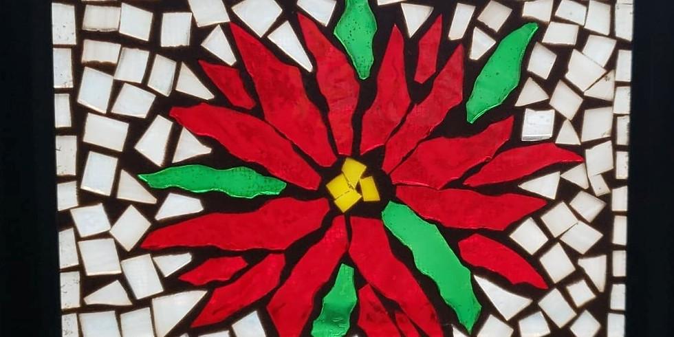 Online - Glass on Glass Poinsettia