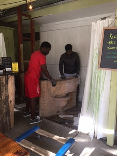 So very thankful for these super strong guys who stopped by Zen Garden and offered to move The Beast!