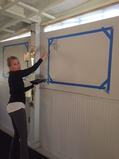 I'm making chalkboard spaces for Teacher Trainings and workshops and just for fun stuff too!