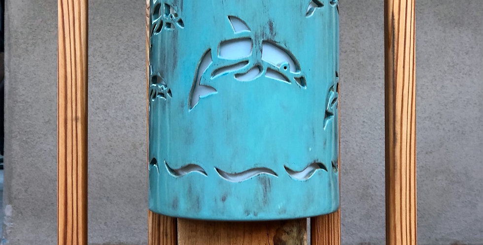 Dolphins Jumping Outdoor Wall Sconce Light