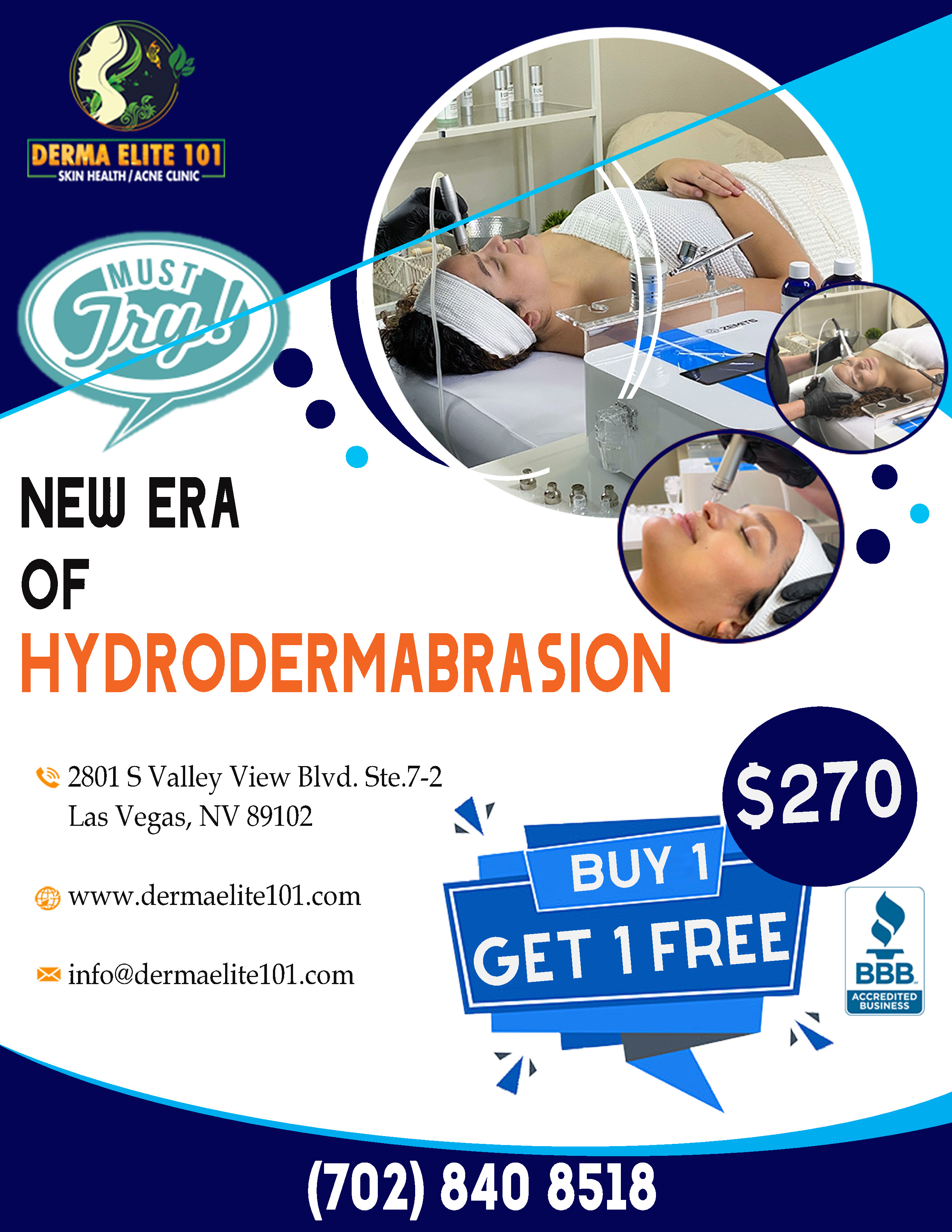 Buy 1 Get 1 Free HydroDermabrasion Promo