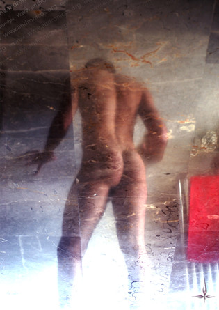 reflection photo male nude by andronicos