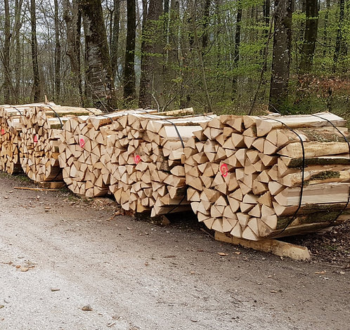 Ster Laubholz Spälten 1m ab Wald