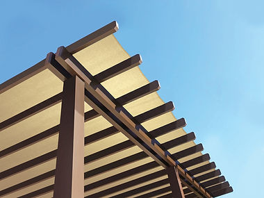 Shade Cloth (Sandstone) from Huntsman Industries