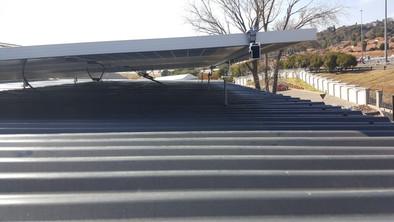 PV installation_raised panels flat roof.