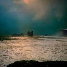 Richter, Seascape II, Iceland, 2020, 64x52, Chrome Pigment Druck auf Büttenpapier auf Alu-