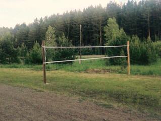 У нас появилась волейбольная площадка!