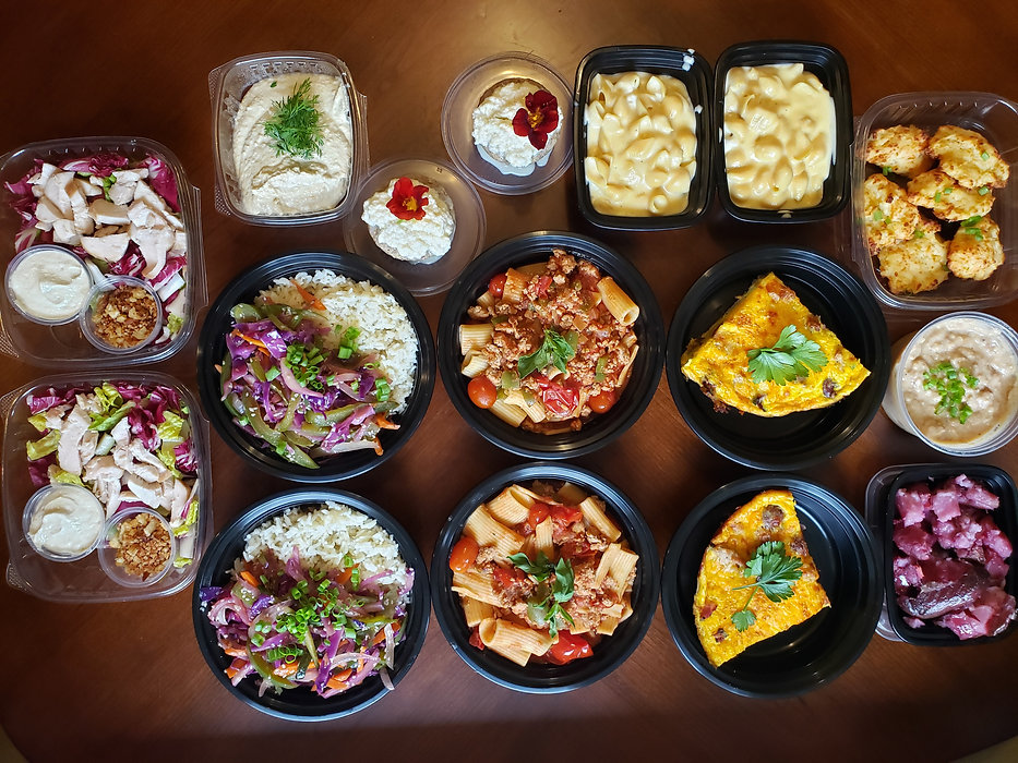 Delicious array of food that can be delivered to your home