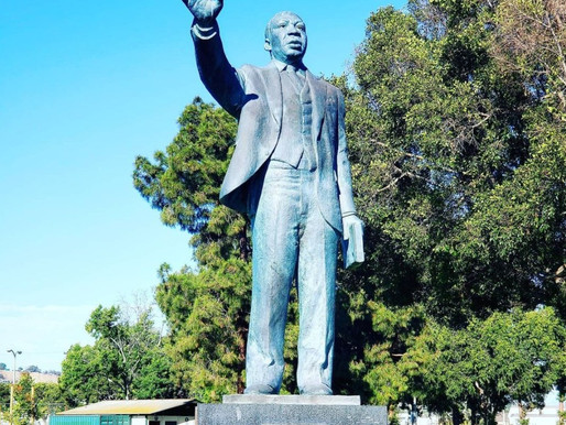 MLK Statue Defaced with Nazi Symbols in Central Long Beach
