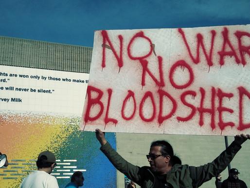 Anti-War Activist Rally at Long Beach's Harvey Milk Park Over Rising Tensions Between Iran-US