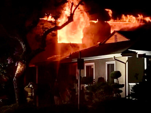 Fire rips through East Long Beach home, no injuries reported