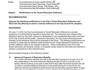 LB Renters Rights Activist Angered By Proposed Changes to the Tenant Relocation Ordinance.