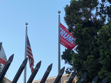 Trump MAGA flag waves at LBPD HQ; spokesperson says its unauthorized