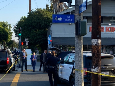 Suspect under arrest after shooting at police on 4th Street in Long Beach