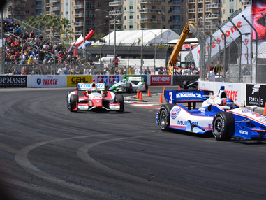 The track for the annual Long Beach Grand Prix is now being built.