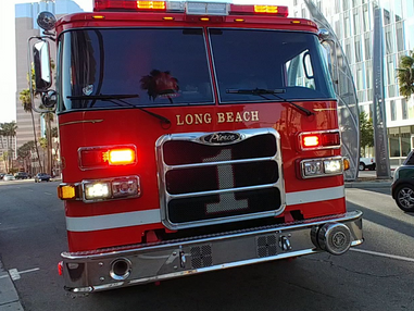 LBFD Extinguishes a Structure Fire on Anaheim Street